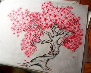 Tatouage Arbre Japonais : tatouage cerisier japonais femme fd6f1 dessin ~ Melissatoandfro.com Idées de Décoration