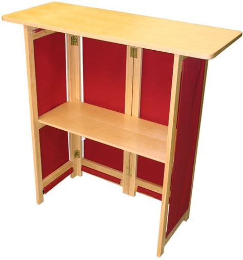 hardwood portable bar exhibitors folding cabinet