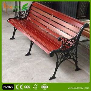 Hot Sell Wood Slats For Cast Iron BenchOutdoor Furniture