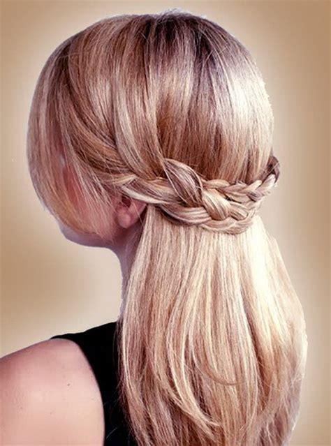 fryzury  warkoczem dlugie wlosy
