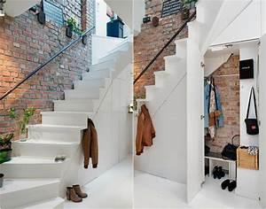 Amenagement D Un Hall D Entrée : am nagement sous escalier id es pour utiliser au mieux l ~ Premium-room.com Idées de Décoration