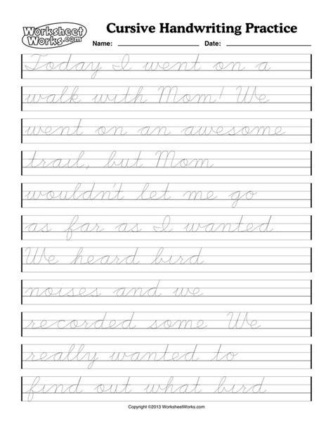 Cursive Handwriting Worksheets  Cursive Writing Worksheet One Word English Pic #18 Braid