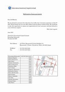 business relocation announcement letter template sample With business relocation plan template