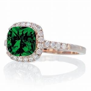 15 carat perfect cushion emerald and diamond engagement for Emerald and diamond wedding ring