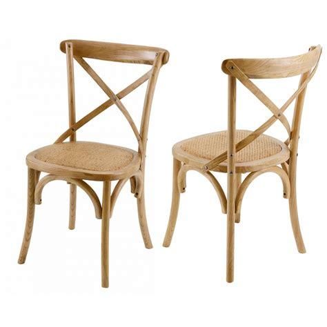 chaises de bistrot chaise bistrot naturelle lot de 2 mooviin