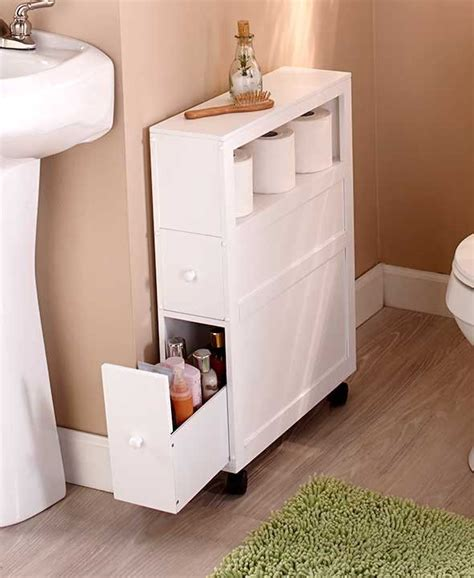 bathroom storage ideas toilet slim bathroom storage cabinet rolling 2 drawers open shelf