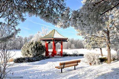 support bureau tlcharger fond d 39 ecran hiver parc tonnelle un banc