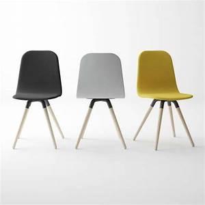 Chaise Bois Scandinave : chaise scandinave en tissu synth tique et bois nuba 4 ~ Teatrodelosmanantiales.com Idées de Décoration