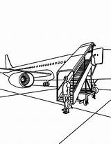 Airport Coloring Tourist Landed Pages Coloringsky Sky sketch template