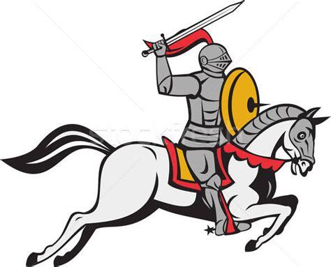 Cavaleiro · Espada · Escudo · Corcel · Desenho · Animado