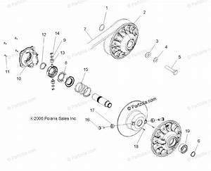 Polaris Side By Side 2008 Oem Parts Diagram For Clutch