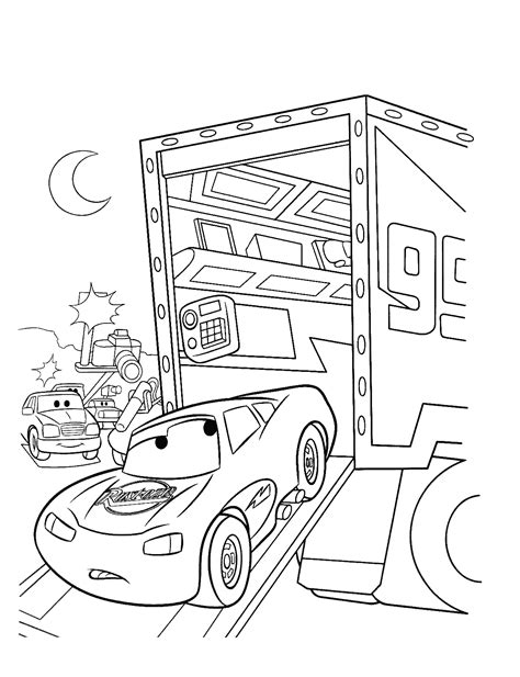 Kleurplaat Lightning Mcqueen by Free Printable Lightning Mcqueen Coloring Pages For