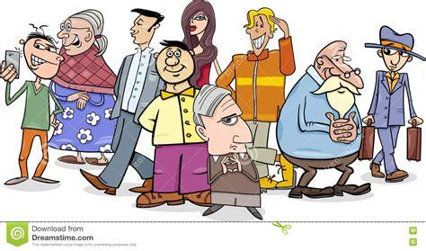 People Crowd Cartoon Stock Vector. Illustration Of Comic