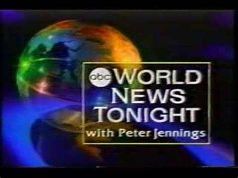 World News Tonight With Peter Jennings - YouTube