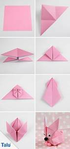 Origami Osterhase Faltanleitung Einfach : origami hase falten faltanleitung f r einen papierhase origami ostern origami hase und origami ~ Watch28wear.com Haus und Dekorationen