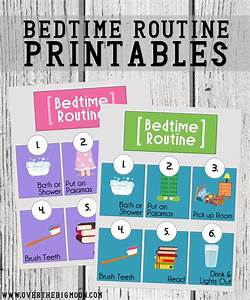 Bedtime Routine Printables - Over The Big Moon