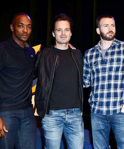Anthony Mackie, Sebastian Stan & Chris Evans | Chris evans ...