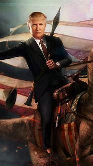 Trump Riding A Dinosaur iPhone 5 Wallpaper (640x1136 ...