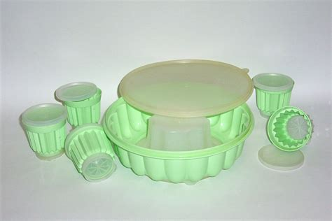 jello molds vintage tupperware jello mold with 5 cup molds