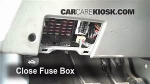 Interior Fuse Box Location  2001