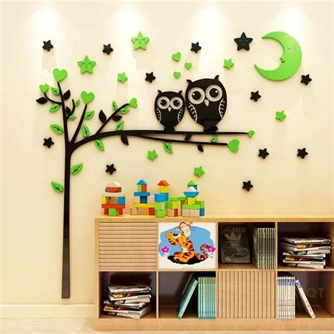 8 feet best for classroom & science lab. Buy Owl Tree With Mood Acrylic Wall Art at   Elifor.pk