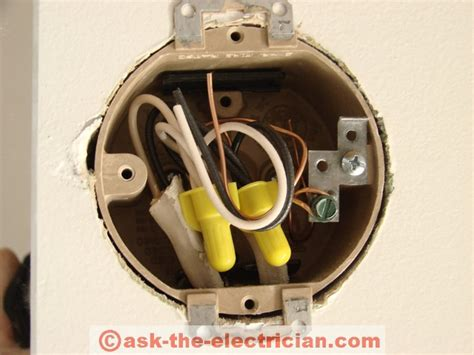working with wall fixture junction boxes