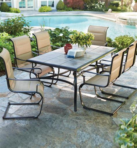 new durable luxury outdoor 7 patio table chairs