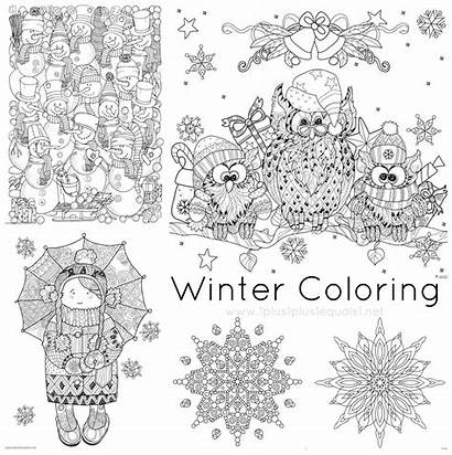 Coloring Winter Pages Doodle Christmas Printables Pdf