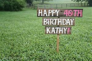 happy birthday party wood yard sign happy birthday sign With happy birthday yard letters