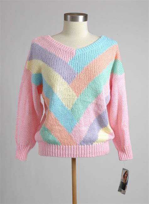 colorful sweaters this sweater new 1980 s colorful pastel gitano