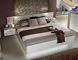 Doppelbett 180x200 Weiß : doppelbett rubio 1 sandeiche wei 180x200 bett led nako rost matratze wohnbereiche schlafzimmer ~ Frokenaadalensverden.com Haus und Dekorationen