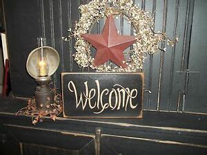 Welcome Sign Prim Rustic Country Home Decor Front