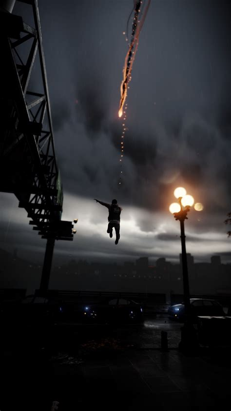 infamous smoke ability jump city android wallpaper