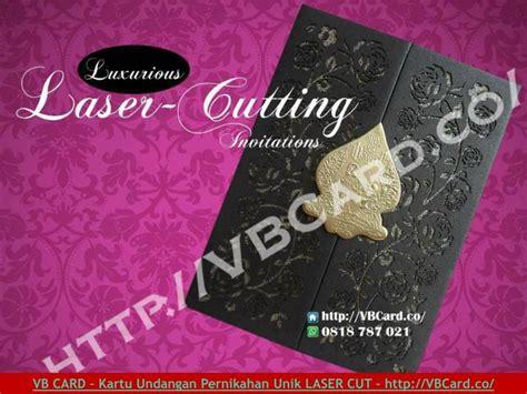 kartu undangan pernikahan unik elegan laser cutting