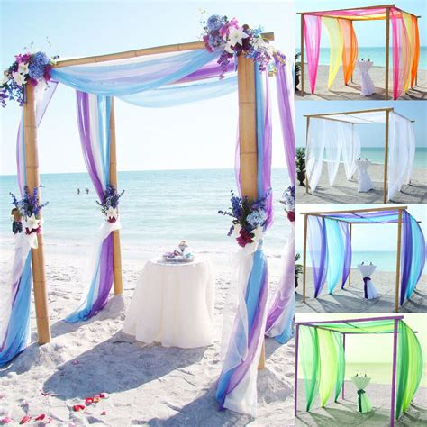5M/10M Sheer Organza Fabric Beach Wedding Ceremony Bouquet