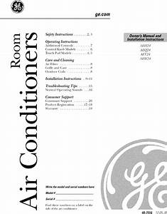 Ge Aeh24djh1 User Manual Room Air Conditioner Manuals And