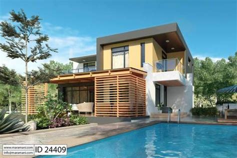 contemporary 2 bedroom house plans modern 4 bedroom house plan id 24409 designs by maramani 18534 | Modern 4 bedroom House Plan ID 24409 1 large