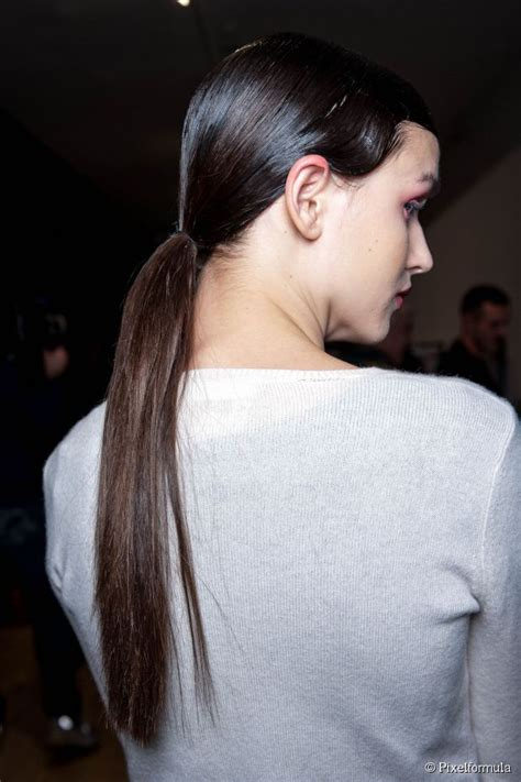 super slick wet  ponytail