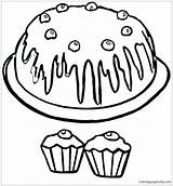 Muffin Coloring Blueberry Clipart Printable Clipartmag Drawing Getdrawings Getcolorings sketch template