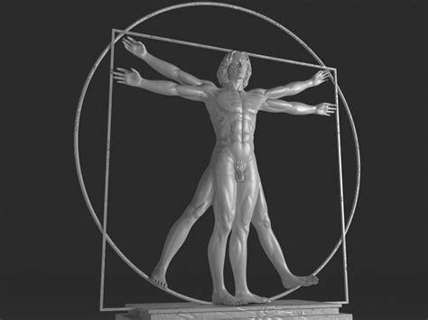 Vitruvian Man By Leonardo Da Vinci 3D Model Game ready