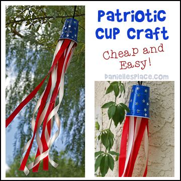 fourth of july and patriotic crafts can make 545 | cup wind sock craft patriotic