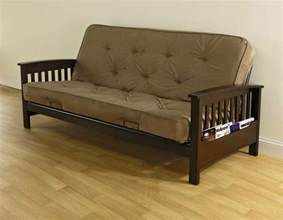 essential home heritage magazine rack futon with 6 quot coil