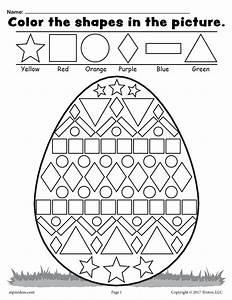Free Easter Egg Shapes Worksheet U0026 Coloring Page U2019 Supplyme