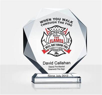 Firefighter Plaque Prayer Crystal Plaques Gift Diy
