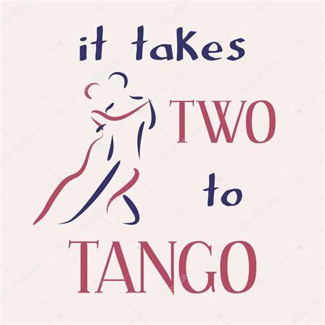 It Takes Two To Tango — Stock Vector © Siberica #96085344