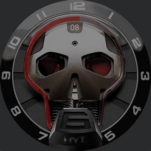 Hyt Hsr Silver Red  U2013 Watchfaces For Smart Watches
