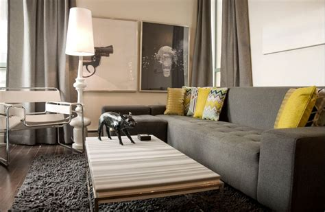 Wohnzimmer Grau Gelb by Modern Living Room Grey And Yellow Decor Yellow