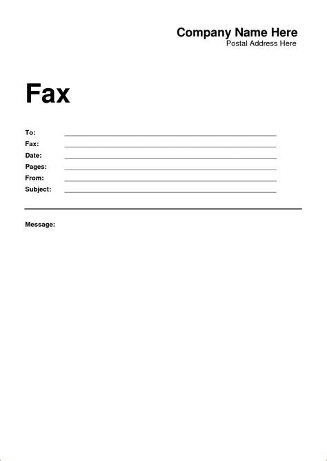 printable fax cover sheet template teknoswitch