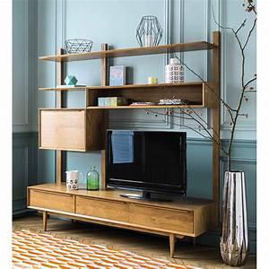 Etagere Chene Massif : meuble tv tag re vintage en ch ne massif portobello maisons du monde ~ Melissatoandfro.com Idées de Décoration