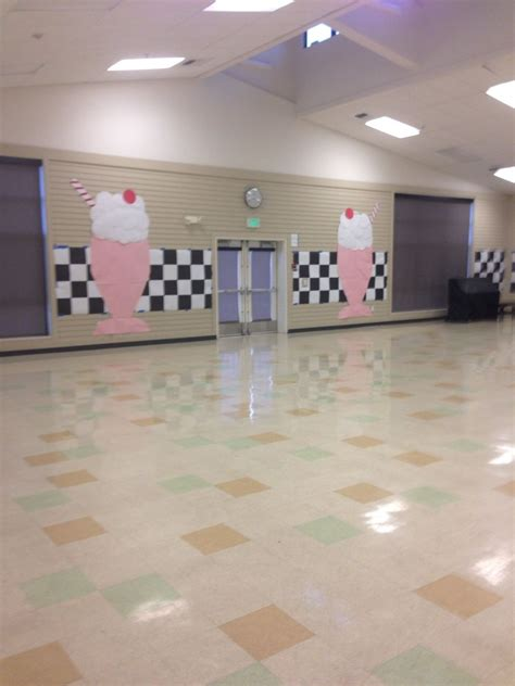 sock hop decorations paper milkshakes  sock hop